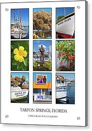 Tarpon Springs Poster Acrylic Print