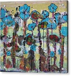 Tartan Garden Acrylic Print