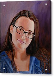 Acrylic Print featuring the painting Taryn Snow by Quwatha Valentine