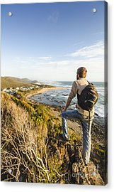 Tasmania Bushwalking Tourist Acrylic Print by Jorgo Photography - Wall Art Gallery