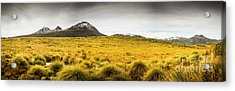 Tasmania Mountains Of The East-west Great Divide  Acrylic Print
