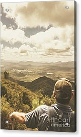 Tasmanian Hiking View Acrylic Print by Jorgo Photography - Wall Art Gallery