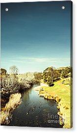 Tasmanian River Landscapes Acrylic Print by Jorgo Photography - Wall Art Gallery