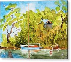 Tasmanian Yacht 'weene' 105 Year Old A1 Design Acrylic Print