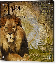 Taste Of Africa Lion Acrylic Print by Mindy Sommers