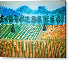 Taste The Vineyard Acrylic Print by Alexandra Torres