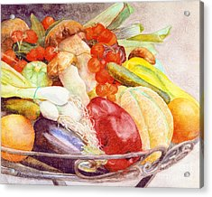 Acrylic Print featuring the painting Tastes Of Tuscany by Bonnie Rinier