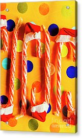 Tasty Candy Cane Sweets Acrylic Print by Jorgo Photography - Wall Art Gallery