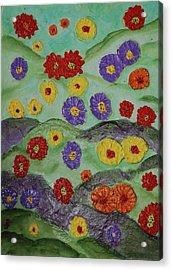 Tata Land Acrylic Print by Lauren Mooney Bear