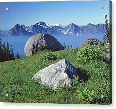 1m4862-tatoosh Range And Mt. St. Helens  Acrylic Print