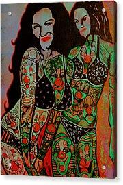 Tatt Acrylic Print by Ottoniel Lima
