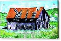 Tattered Prairie Barn Acrylic Print