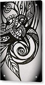 Acrylic Print featuring the digital art Tattoo by Erika Swartzkopf