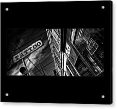 Tattoo Parlour On Black Acrylic Print