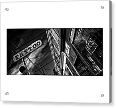Tattoo Parlour On White Acrylic Print