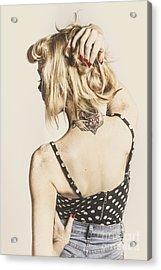 Tattoo Pin-up Acrylic Print