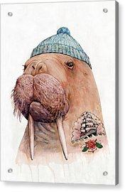 Tattooed Walrus Acrylic Print