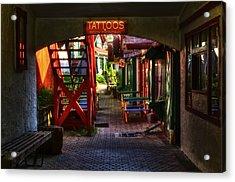 Tattoos And Body Piercing Acrylic Print
