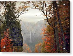 Taughannock In The Mist Acrylic Print by Jessica Jenney