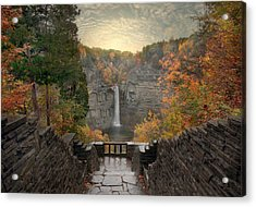 Taughannock Lights Acrylic Print by Jessica Jenney