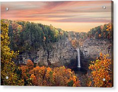 Taughannock Sunset Acrylic Print by Jessica Jenney