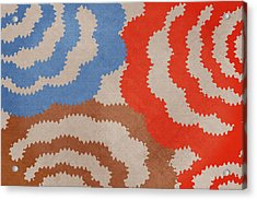 Taupe Ring Pattern Acrylic Print by Christina Rollo