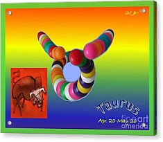 Acrylic Print featuring the painting Taurus by The Art of Alice Terrill