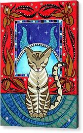 Taurus Cat Zodiac Acrylic Print