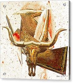 Acrylic Print featuring the digital art Taurus by Eleni Mac Synodinos