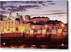 Acrylic Print featuring the photograph Tavira At Dusk - Portugal by Barry O Carroll