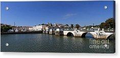 Tavira Ponte Romana And The River Acrylic Print by Louise Heusinkveld