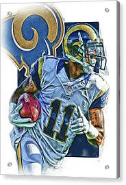 Tavon Austin Los Angeles Rams Oil Art 2 Acrylic Print