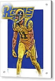 Tavon Austin Los Angeles Rams Oil Art Acrylic Print