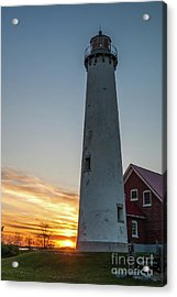 Tawas Point Light Acrylic Print by Patrick Shupert