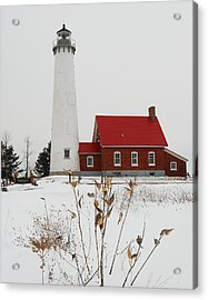 Tawas Point Lighthouse Acrylic Print by Michael Peychich