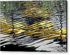 Taxi Abstract Acrylic Print by Tony Cordoza