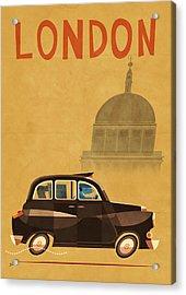 Taxi Acrylic Print by Daviz Industries