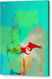 Taxi Driver Acrylic Print by Naxart Studio