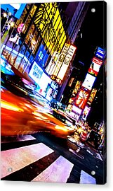 Taxi Square Acrylic Print
