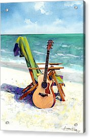 Taylor At The Beach Acrylic Print by Andrew King