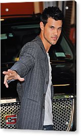 Taylor Lautner, Leaves The Live With Acrylic Print by Everett