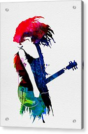 Taylor Watercolor Acrylic Print by Naxart Studio