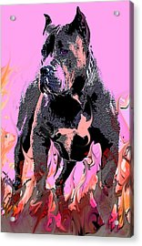 Acrylic Print featuring the painting Tbone by Tbone Oliver