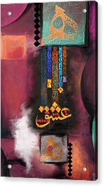 Tcm Calligraphy 12 Acrylic Print by Team CATF