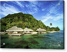 Te Tiare Resort Acrylic Print by David Cornwell/First Light Pictures, Inc - Printscapes