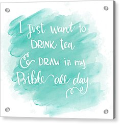 Tea And Draw Acrylic Print