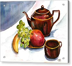 Tea And Fruit Acrylic Print
