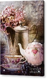 Tea And Grapes Acrylic Print by Mo T