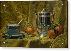 Tea And Oranges Acrylic Print by Jeffrey Hayes
