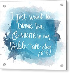 Tea And Write Acrylic Print